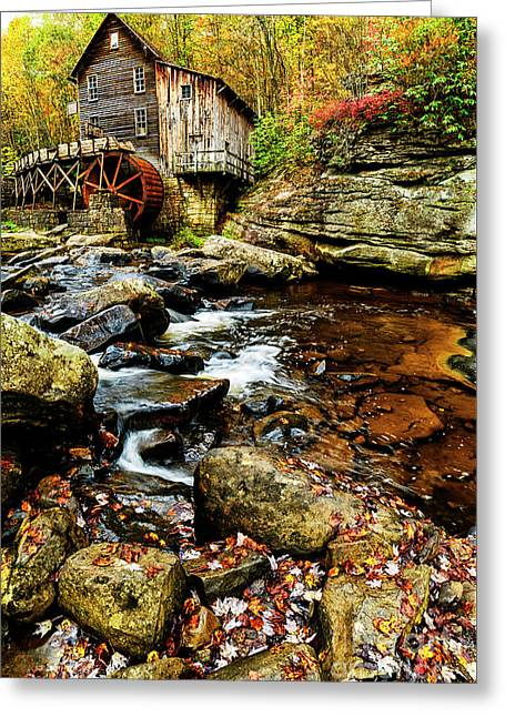 Glade Creek Grist Mill Fall  Greeting Card