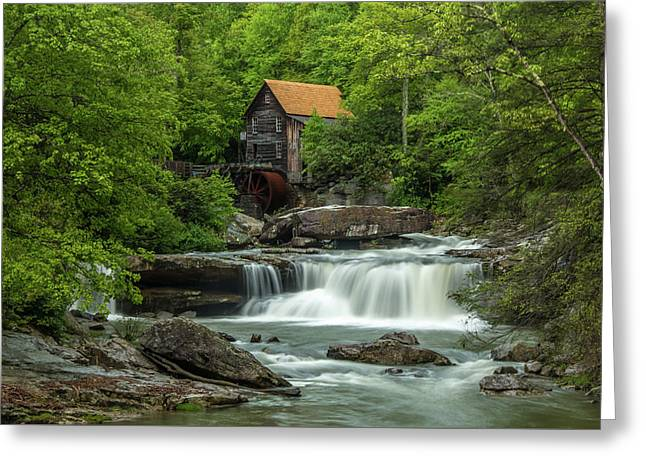 Glade Creek Grist Mill In May Greeting Card