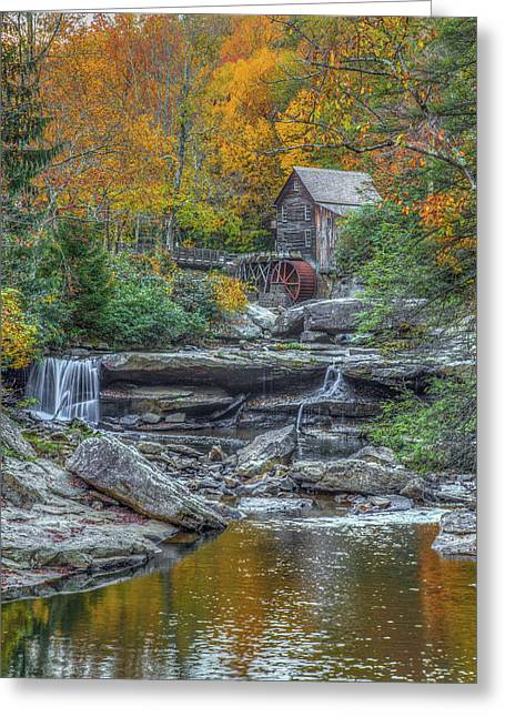 Glade Creek Grist Mill Greeting Card by Tom Weisbrook