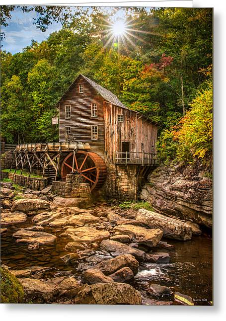 Glade Creek Mill Fall Greeting Card