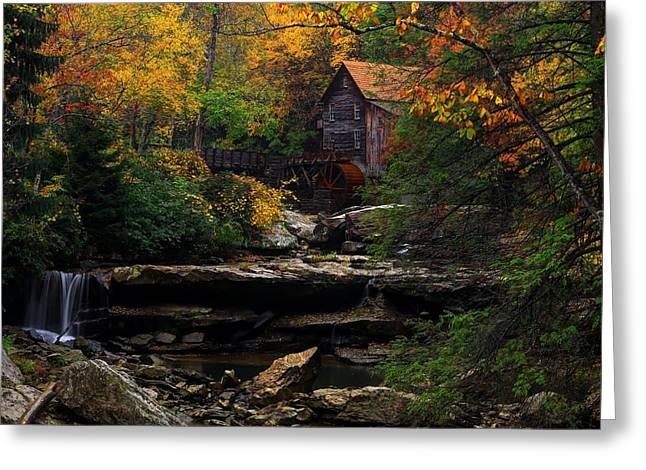 Glades Creek Grist Mill West Virginia Greeting Card