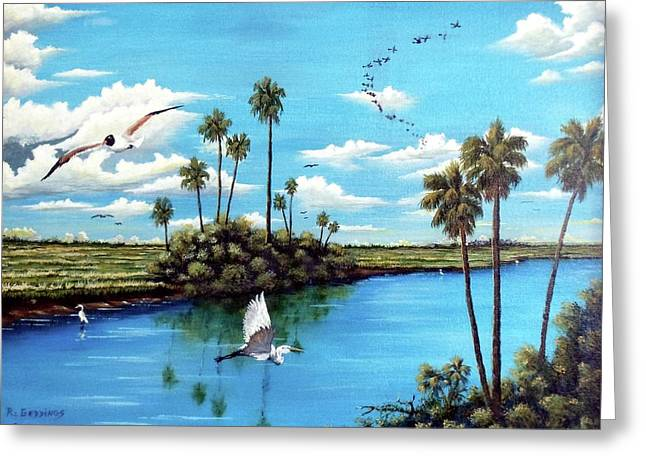 Glades Shark River Slough Greeting Card by Riley Geddings