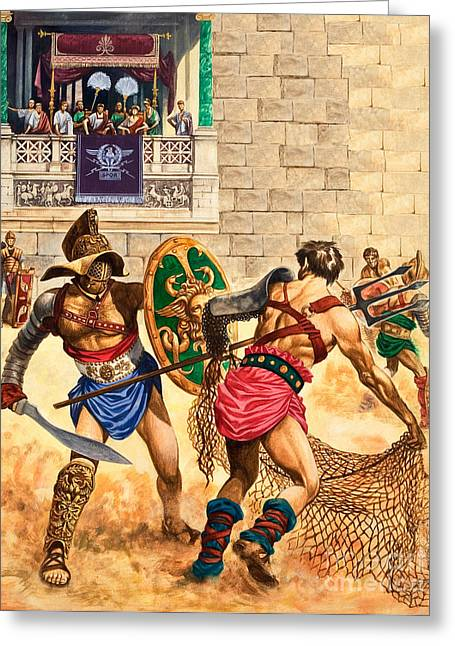 Gladiators Greeting Card by Peter Jackson