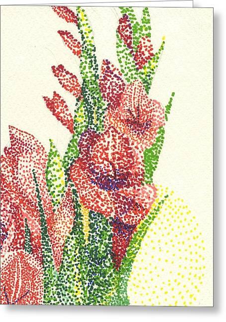 Gladiolas Greeting Card