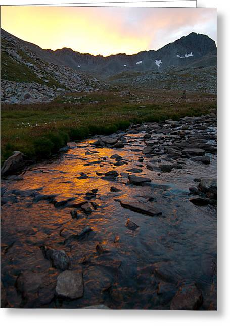 Gladstone Peak Sunrise Greeting Card