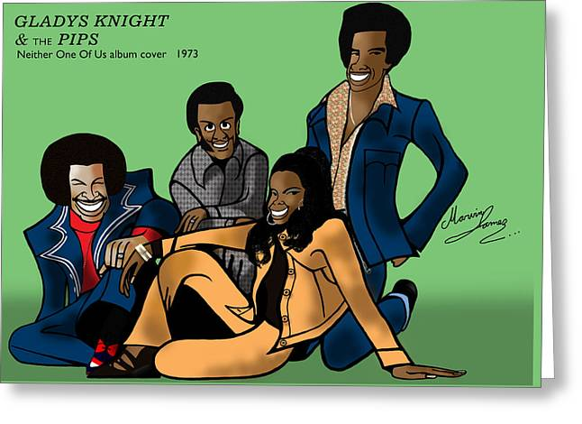 Gladys Knight And The Pips Greeting Card by Marvin James