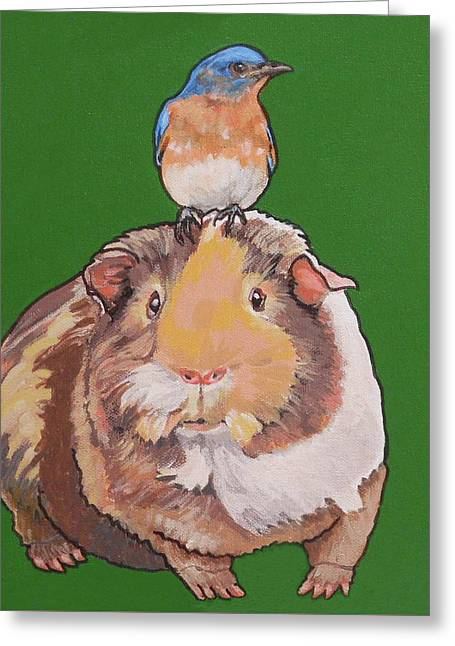 Gladys The Guinea Pig Greeting Card