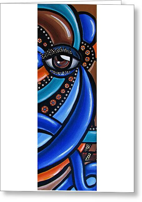 Abstract Eye Art Acrylic Eye Painting Surreal Colorful Chromatic Artwork Greeting Card
