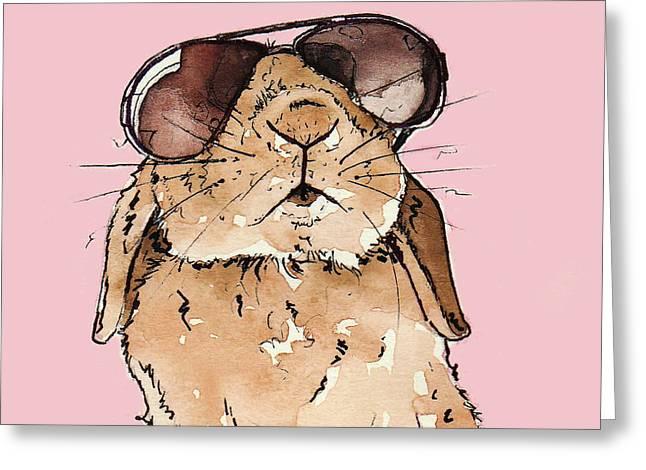 Glamorous Rabbit Greeting Card
