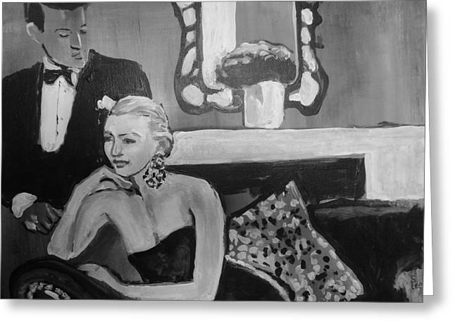 Old Glamour And Grace Greeting Card by Shannon Lee