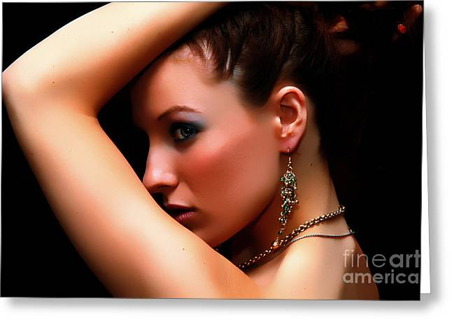 Glamour Girl Greeting Card by Clayton Bruster