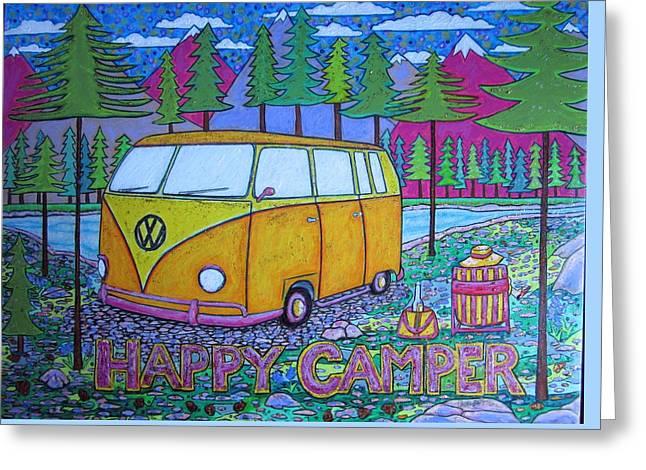 Glamper Camper Vw Bus 1 Greeting Card
