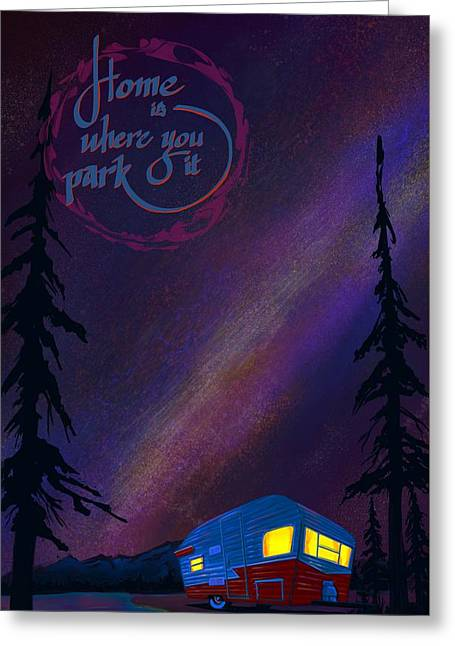 Glamping Under The Stars Greeting Card