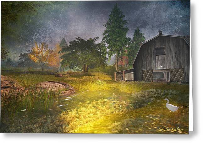 Glanduin Farm - By Kylie Sabra Greeting Card by Kylie Sabra