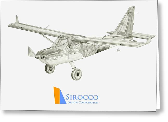 Glasair Sportsman Tc With Sirocco Design Corp. Winglets Logo 3 Greeting Card by Nicholas Linehan