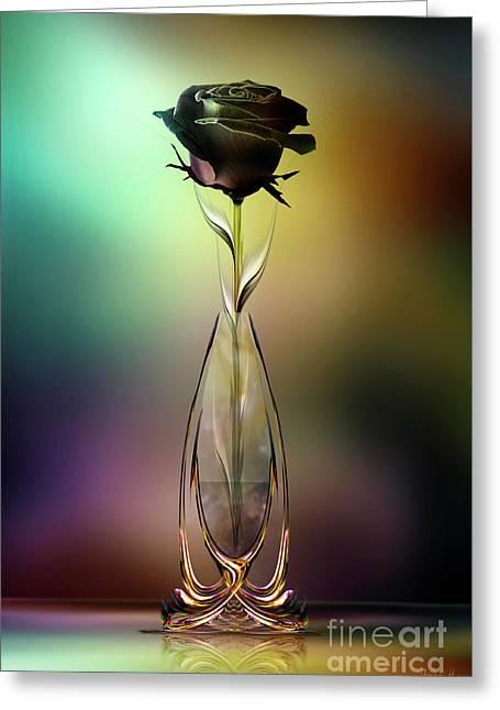 Glasblower's Rose Greeting Card