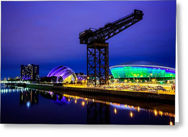 Glasgow At Night Greeting Card