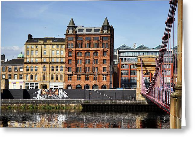Greeting Card featuring the photograph Glasgow by Jeremy Lavender Photography