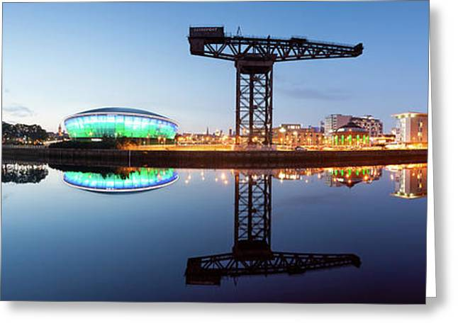 Glasgow Skyline Panorama Greeting Card by John Farnan