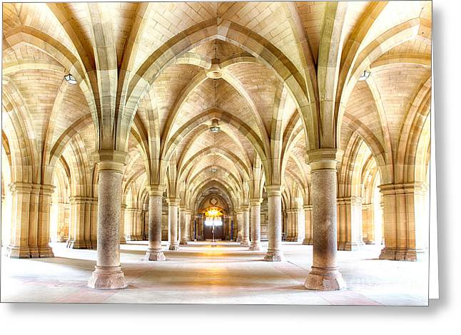 Glasgow University Cloisters  Greeting Card