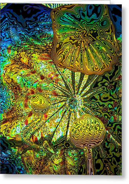 Glass Abstract 1 Greeting Card