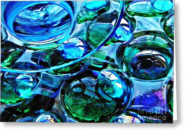 Glass Abstract 184 Greeting Card