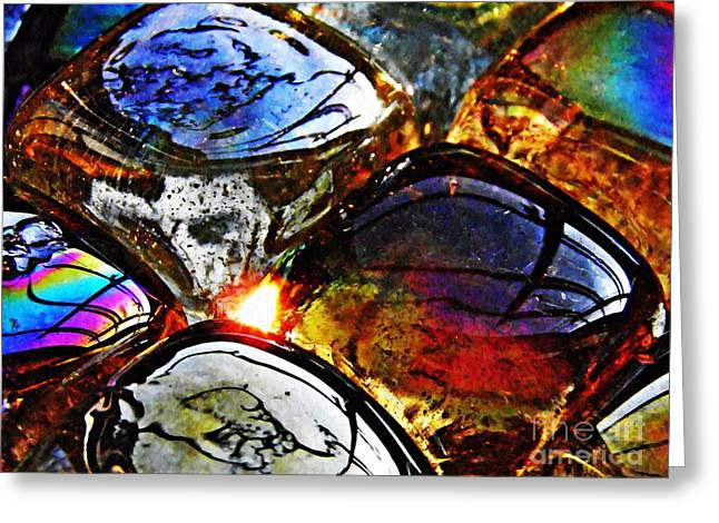 Glass Abstract 2 Greeting Card by Sarah Loft