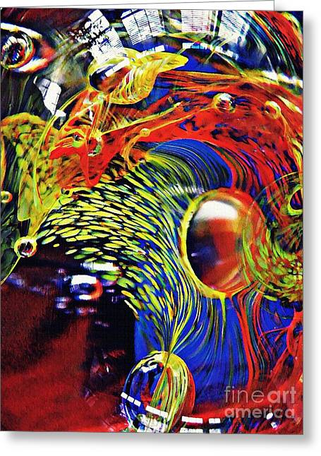 Glass Abstract 630 Greeting Card by Sarah Loft