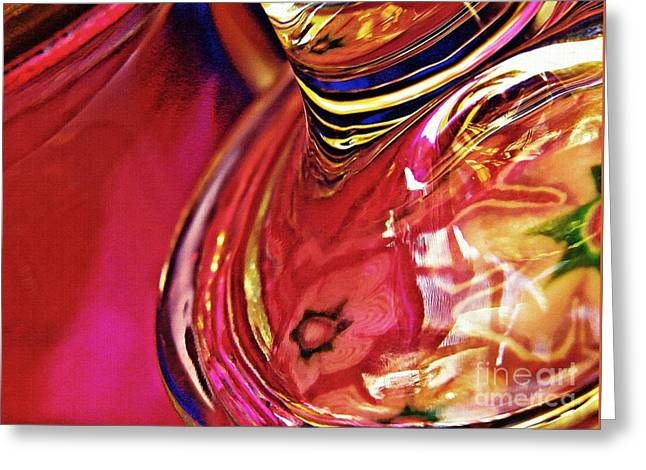 Glass Abstract 634 Greeting Card