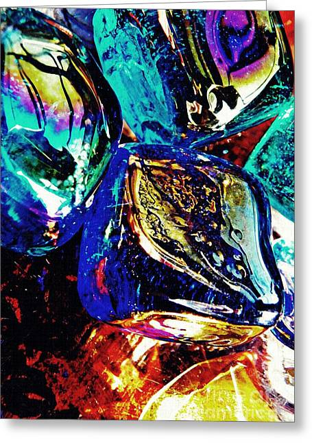 Glass Abstract 687 Greeting Card by Sarah Loft