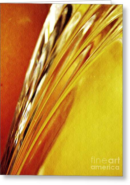 Glass Abstract 737 Greeting Card
