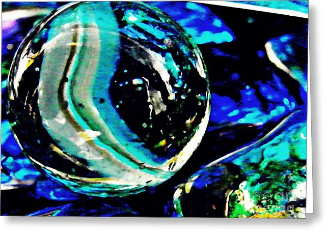Glass Abstract 79 Greeting Card by Sarah Loft