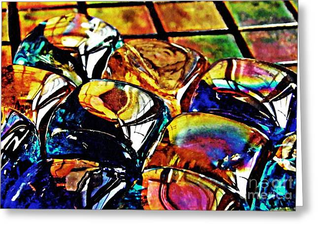 Glass Abstract Greeting Card by Sarah Loft