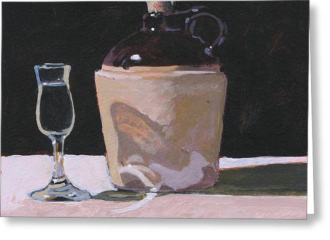 Glass And Jug Greeting Card by Robert Bissett