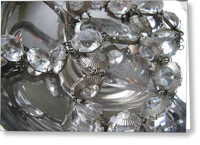 Glass And Silver Greeting Card by Lindie Racz
