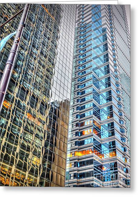 Glass And Steel Skyscrapers Greeting Card