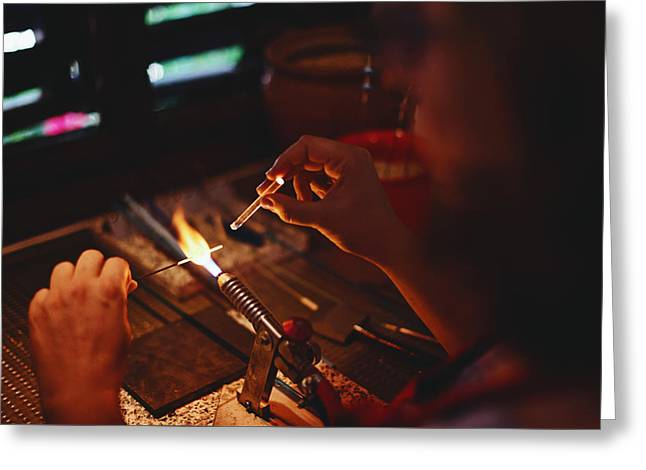 Glass Artist In Tenedos, Turkey Greeting Card