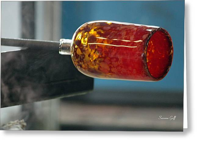 Glass Blowing Vii Greeting Card by Suzanne Gaff