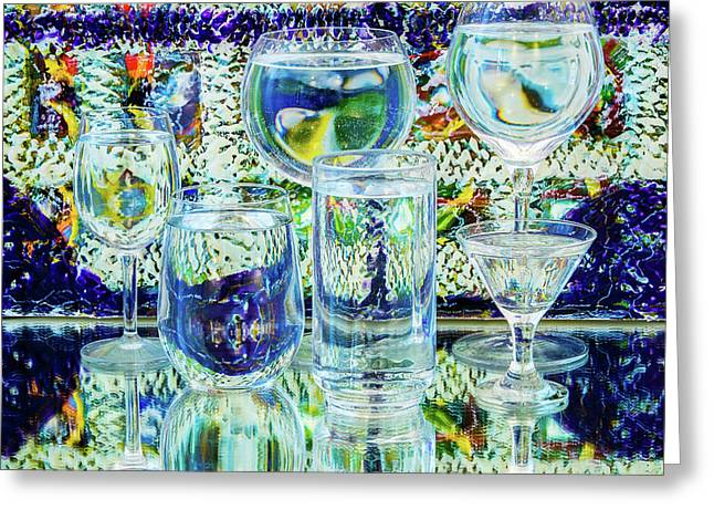 Glass Blues Greeting Card