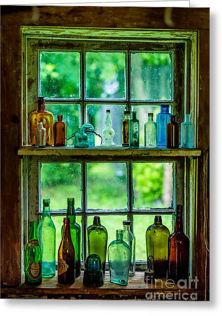 Glass Bottles Greeting Card