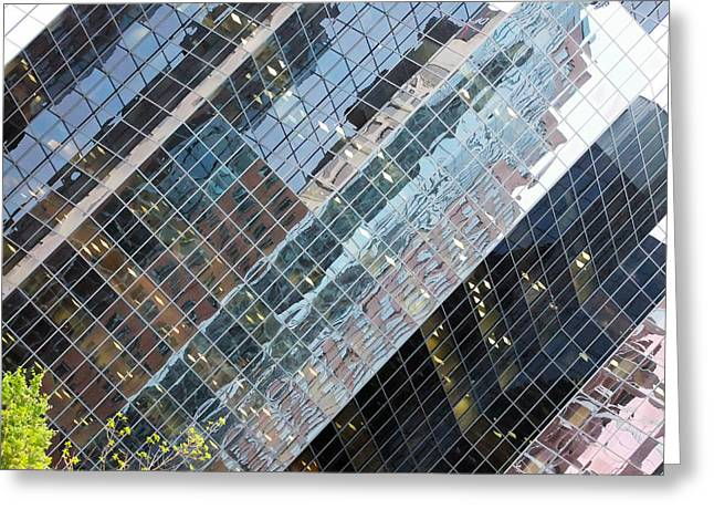 Glass Buildings 4 Greeting Card