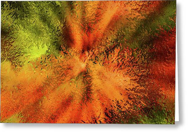 Glass Cosmos Abstract  Greeting Card