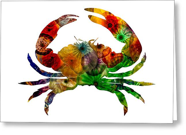 Greeting Card featuring the photograph Glass Crab by Michael Colgate