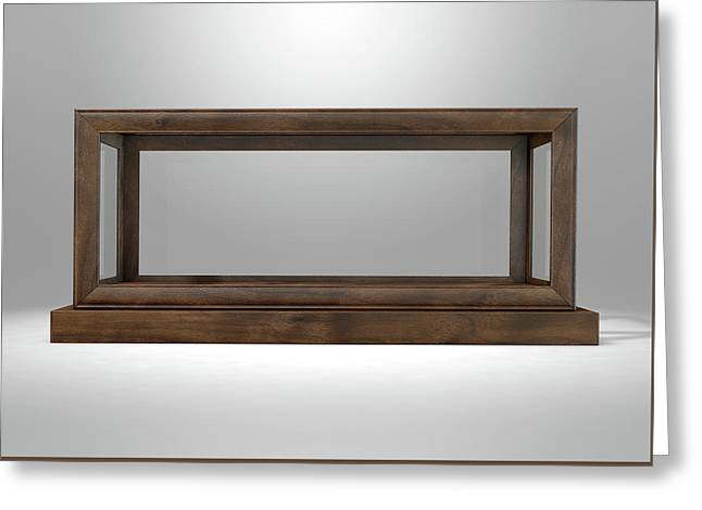 Glass Display Case Frame Horizontal Greeting Card