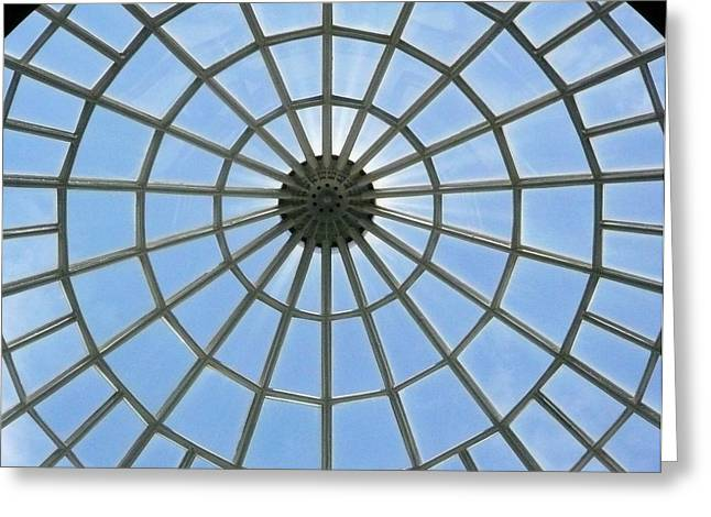 Glass Dome At Hall Of Liberation At Kelheim  Greeting Card by Lori Seaman