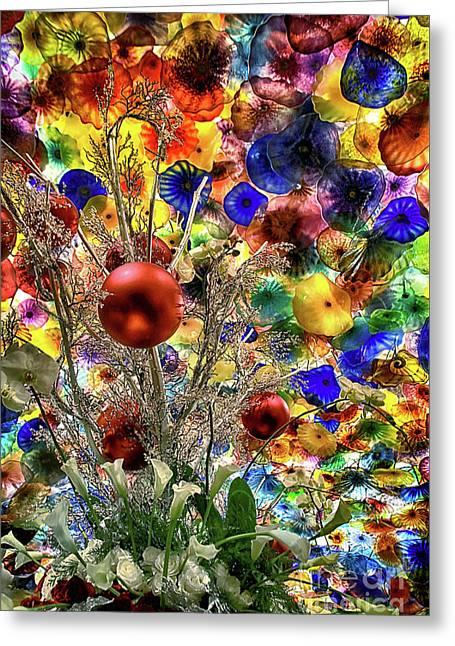Glass Ecstasy Greeting Card by Mariola Bitner