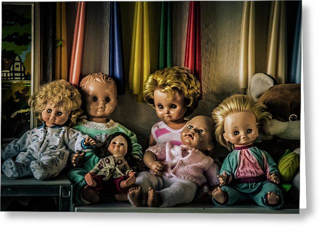 Greeting Card featuring the photograph Glassy Eyed Menagerie by Odd Jeppesen