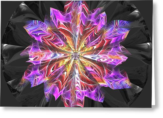 Glass Flower Greeting Card by Kathy Kelly