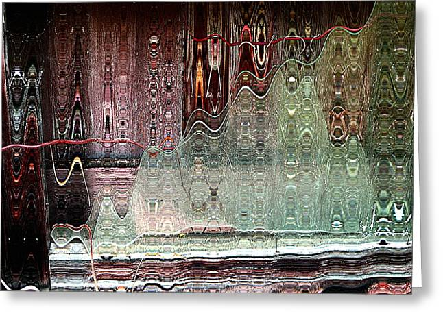 Glass House Greeting Card by Shirley Sirois