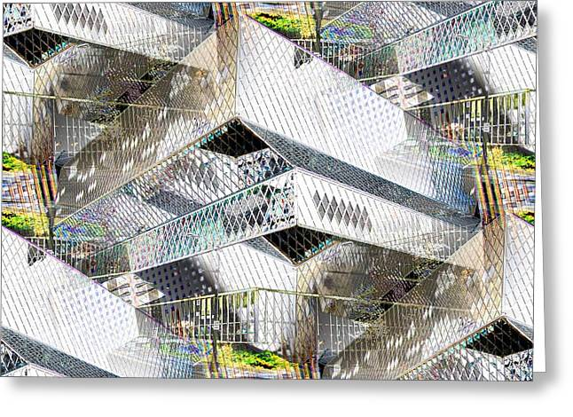 Glass House Greeting Card by Tim Allen